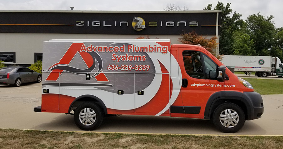 Advanced Plumbing Systems Commercial Vehicle Wrap