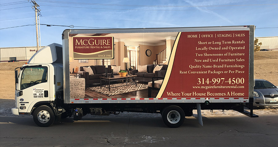 McGuire Furniture Commercial Box Truck Wrap
