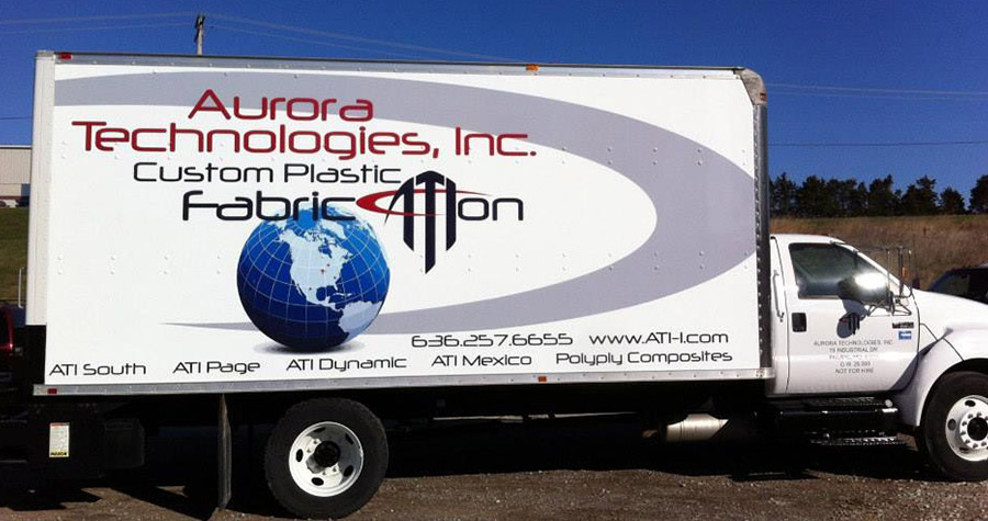 Aurora Technologies Commercial Box Truck Wrap