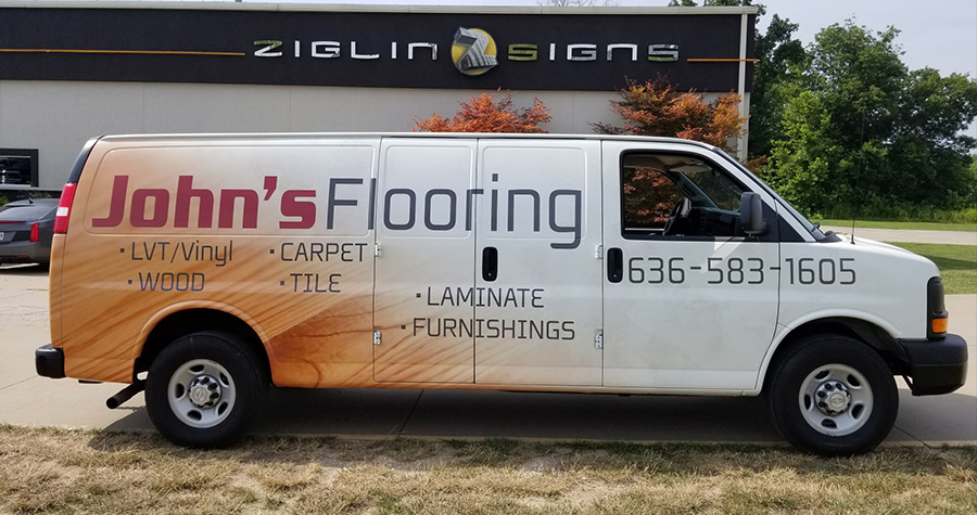 John's Flooring Commercial Vehicle Wrap