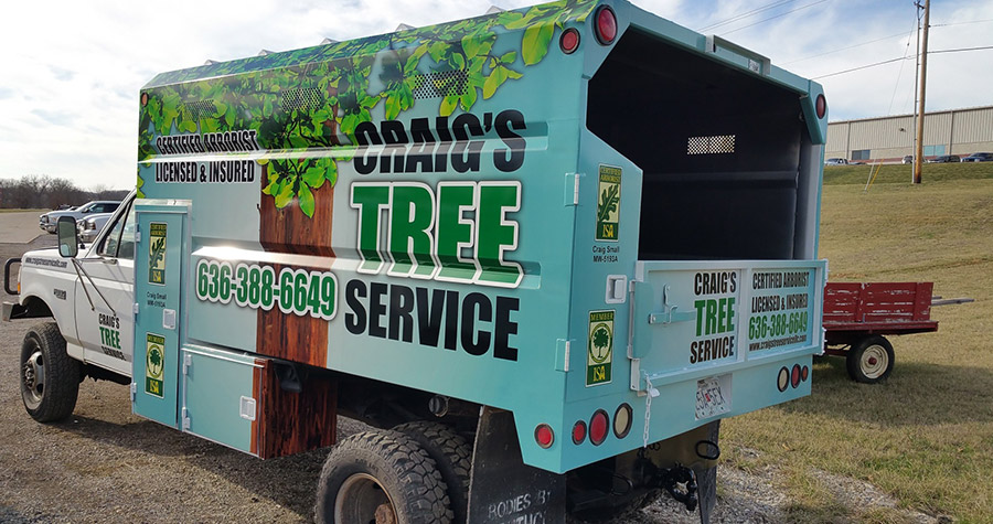 Craig's Tree Service Commercial Vehicle Wrap