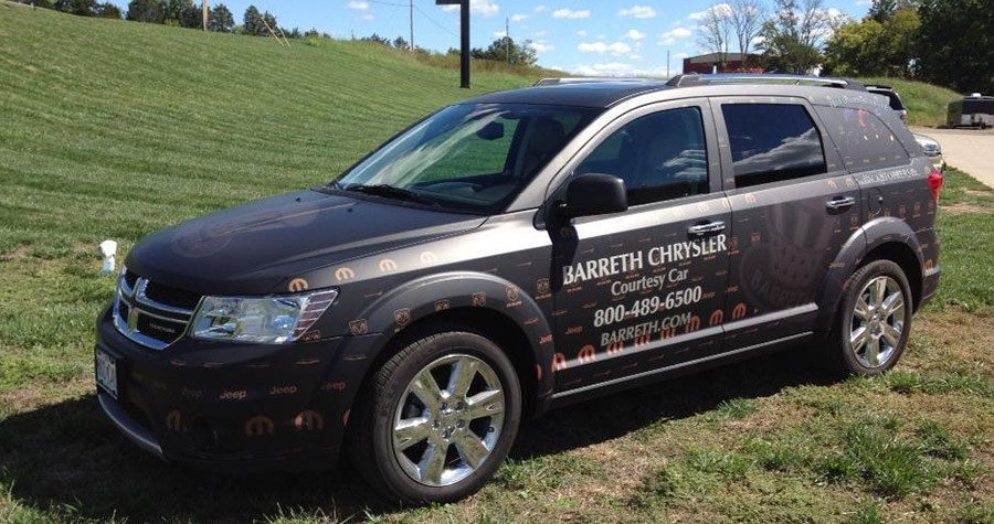 Barreth Chrysler Vehicle Wrap