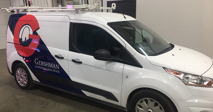 Gershman Commercial Real Estate Vehicle Wrap