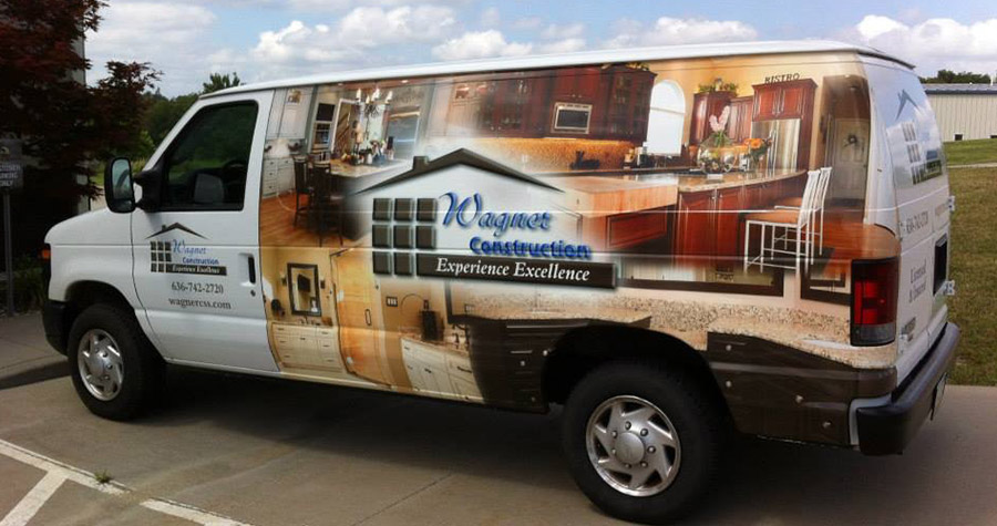 Wagner Construction Commercial Vehicle Wrap