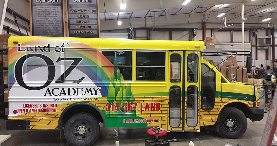Land of Oz Academy Bus Wrap