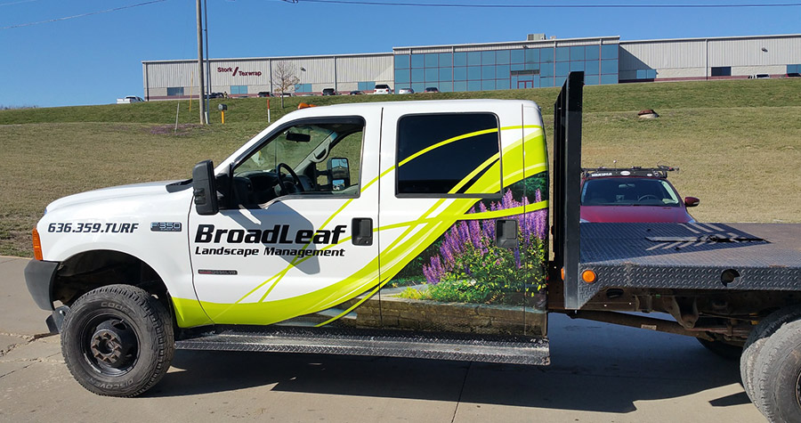 Broadleaf Landscape Management Commercial Truck Wrap