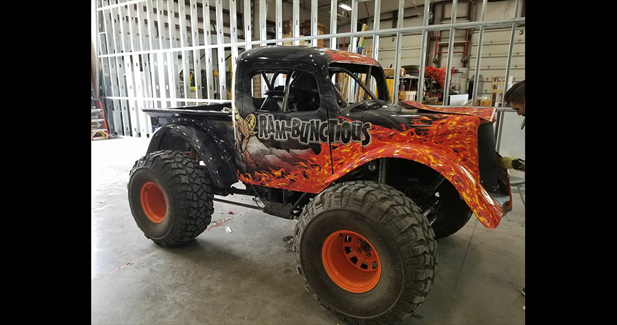 "Lil Monster Trucks ""Ram-bunctious"" Wrap"