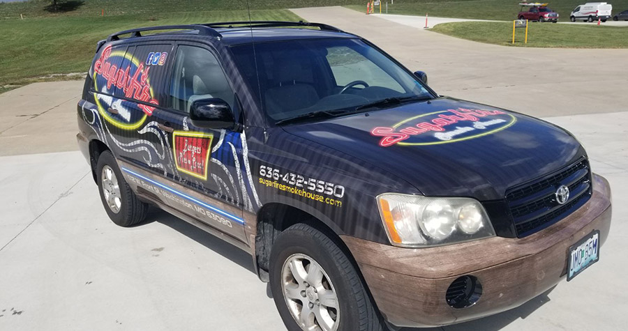 Sugarfire Smokehouse Commercial Vehicle Wrap