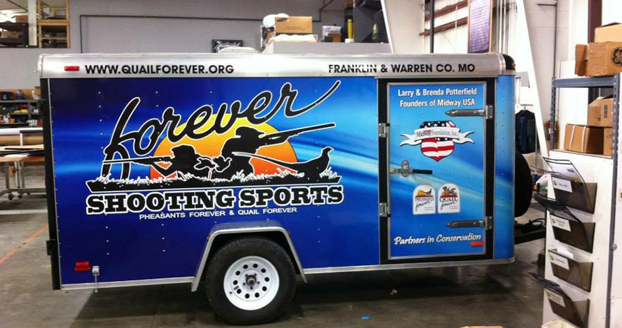 Quail Forever Commercial Trailer Wrap