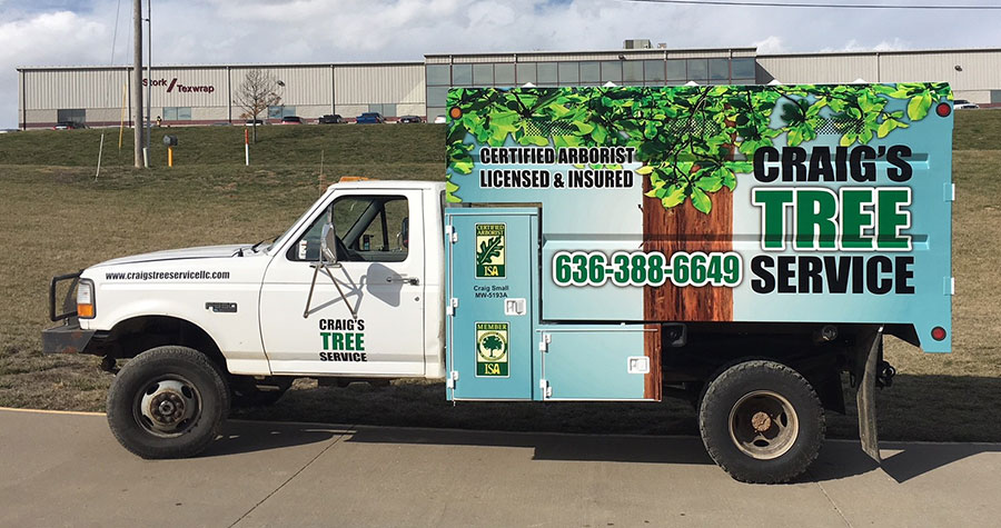 Partial Wood Chipper Wrap for Craig's Tree Service