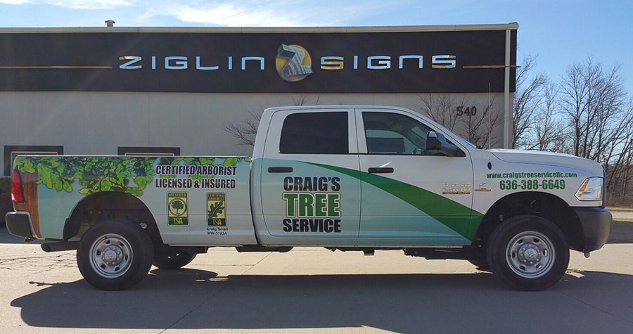 Partial Truck Wrap for Craig's Tree Service
