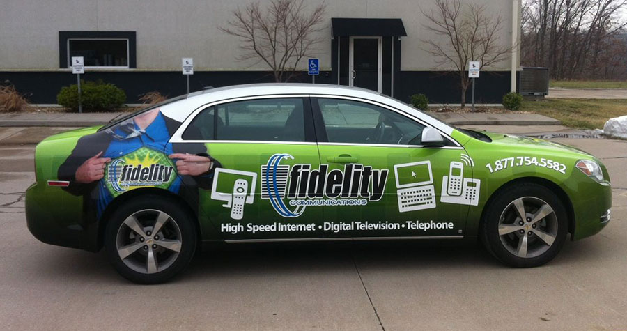 Partial Vehicle Wrap for Fidelity Communications