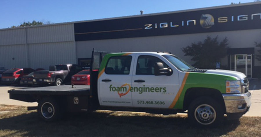Partial Truck Wrap for Foam Engineers