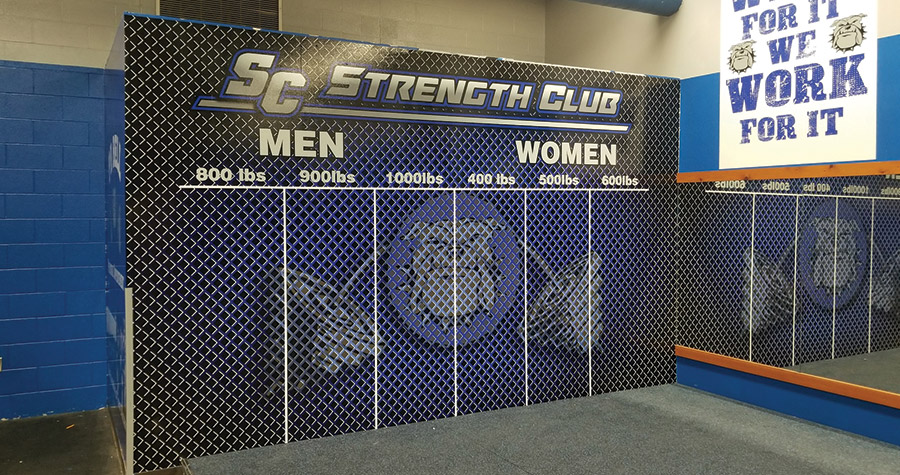 Locker Room Wall Graphics for South Callaway High School