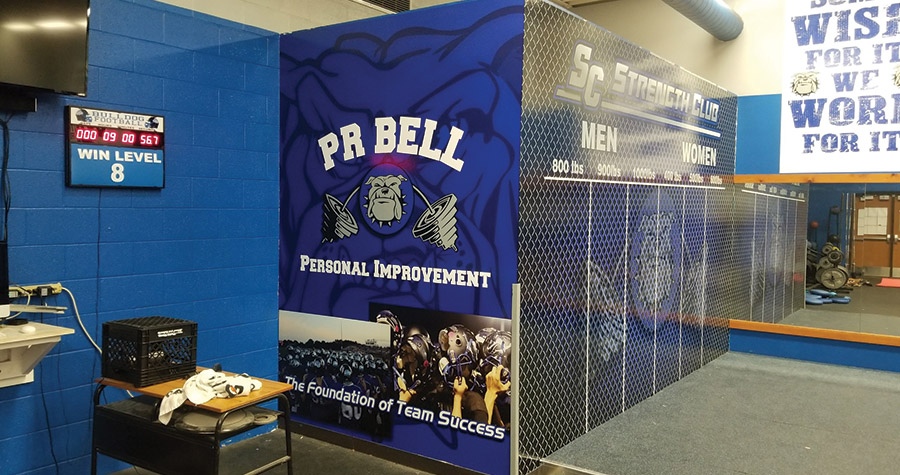 Athletic Wall Graphics for South Callaway High School Locker Room