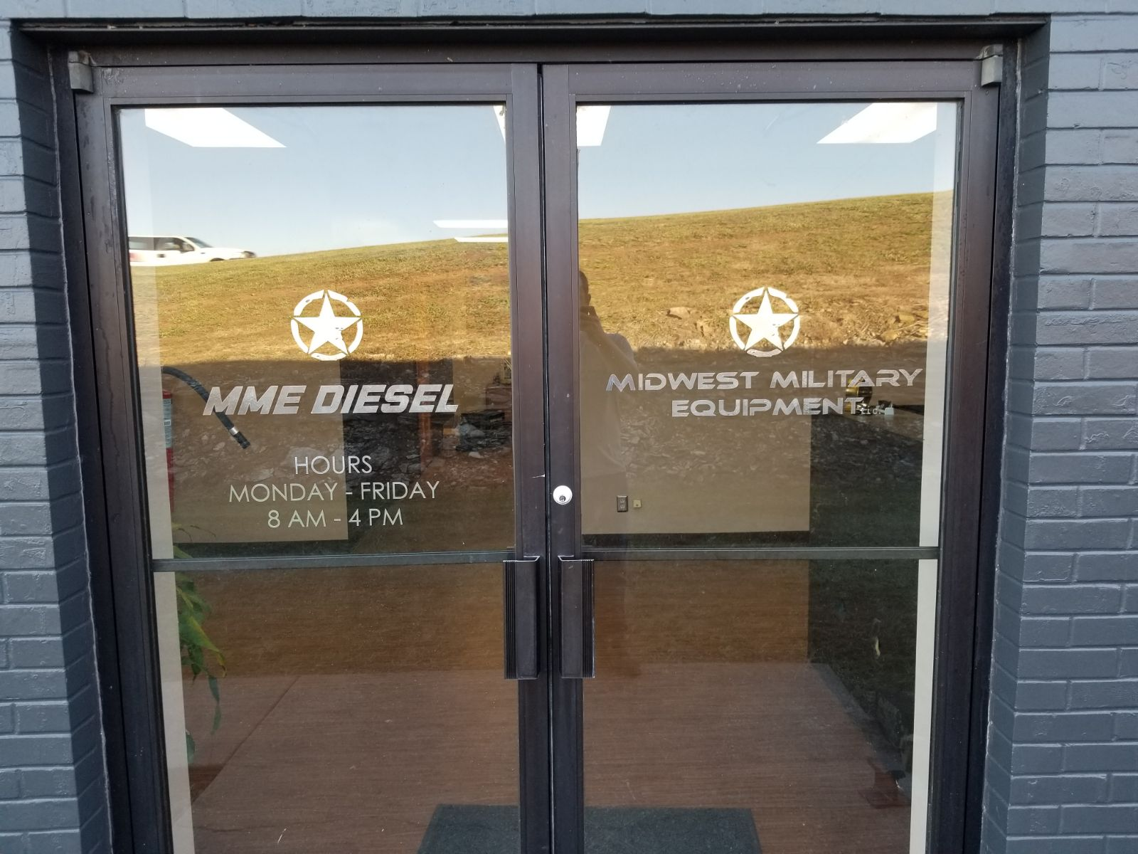 Midwest Military Equipment Storefront Graphics