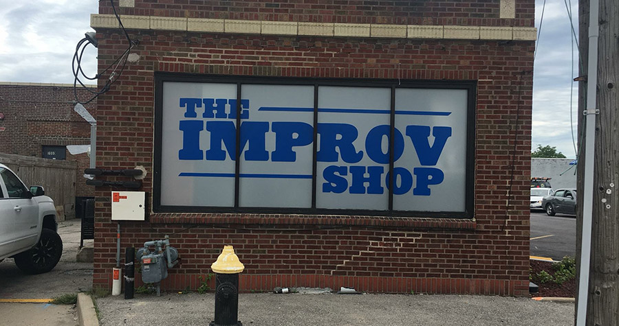 The Improv Shop Outdoor Window Graphics